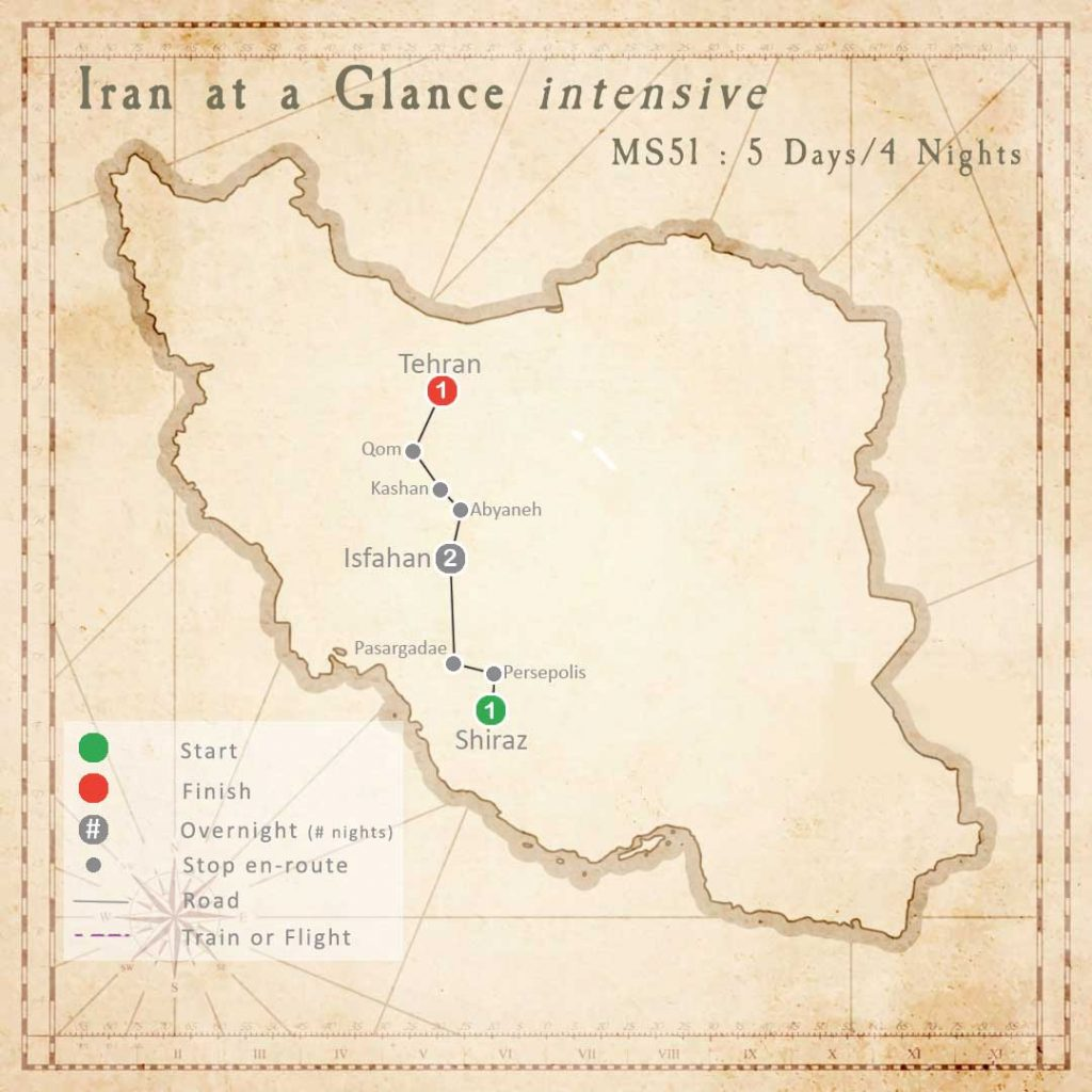 MS51 Tour: Iran at a Glance (intensive)