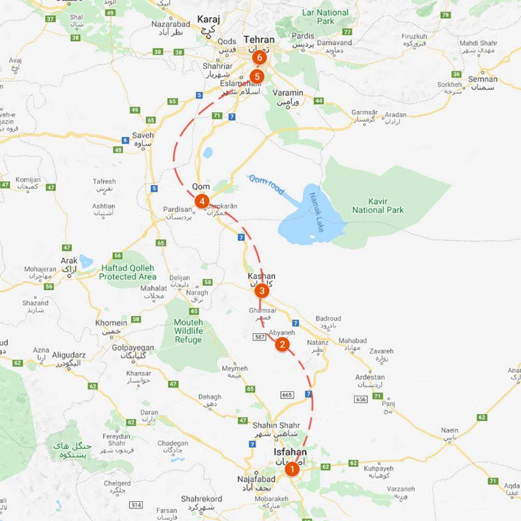 RIT1 : Isfahan-Tehran Road Tour