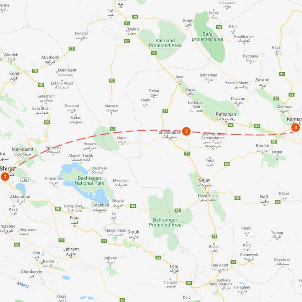 RSK1 : Shiraz-Kerman Road Tour